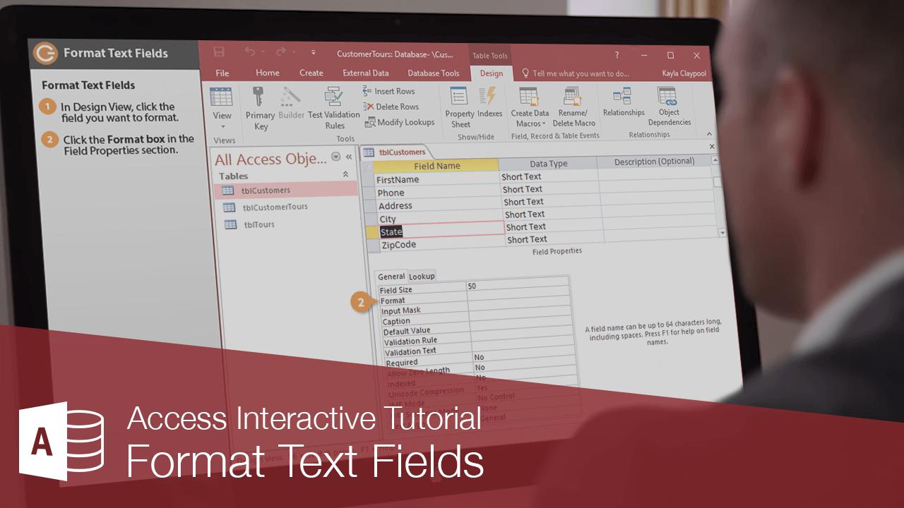 Format Text Fields