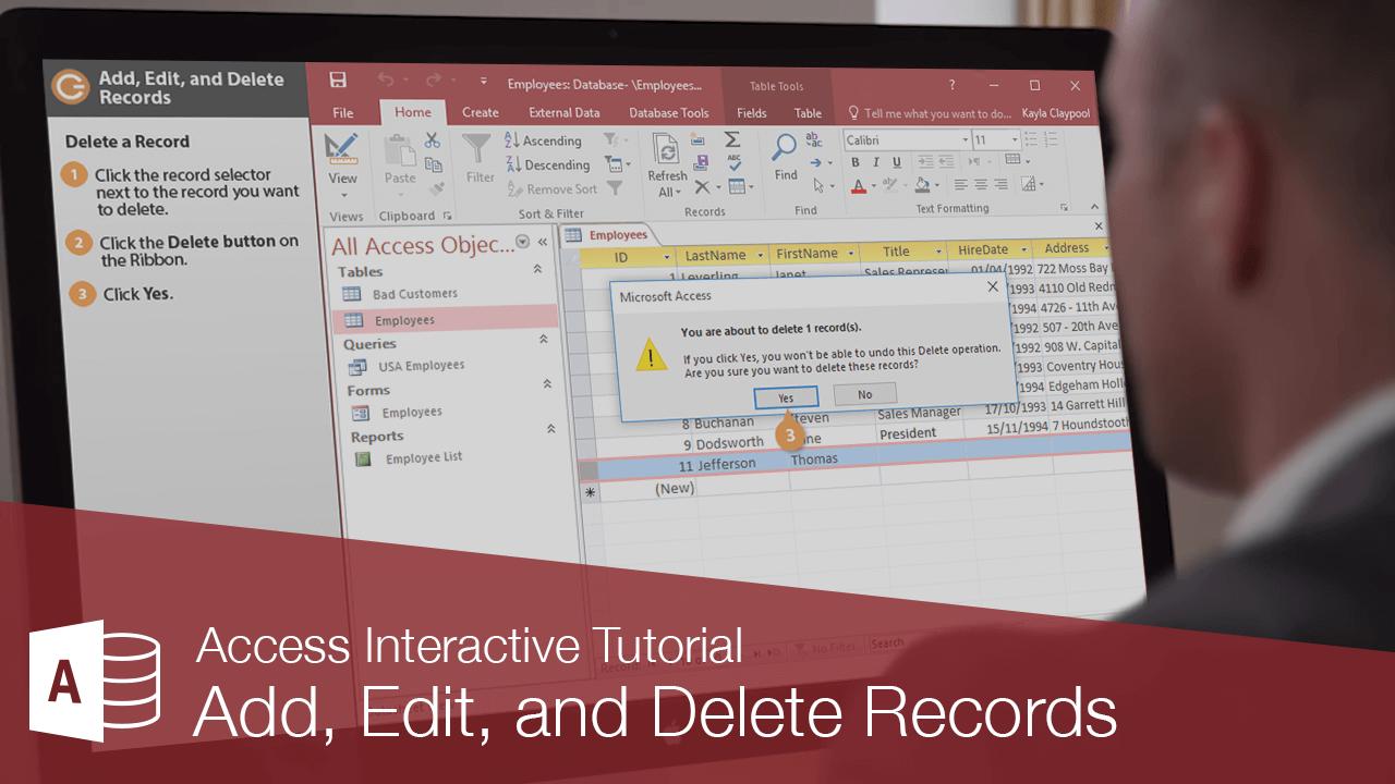 Add, Edit, and Delete Records