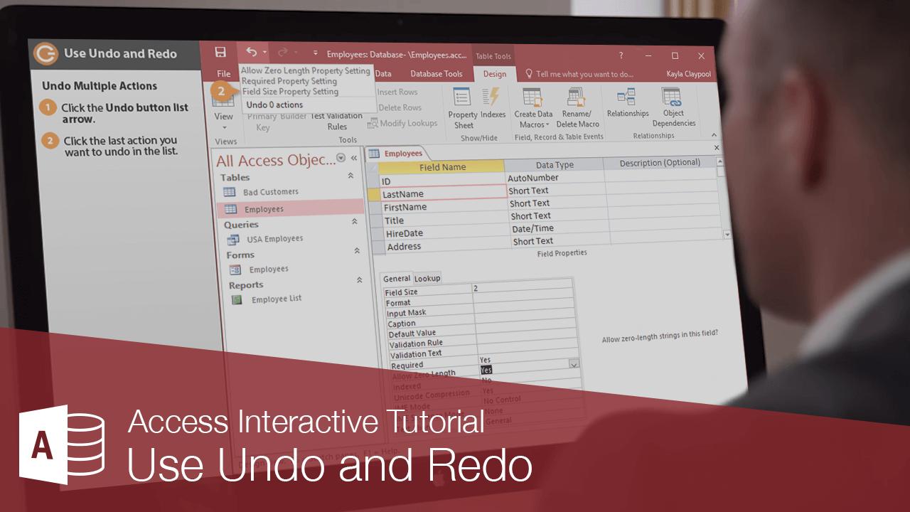 Use Undo and Redo