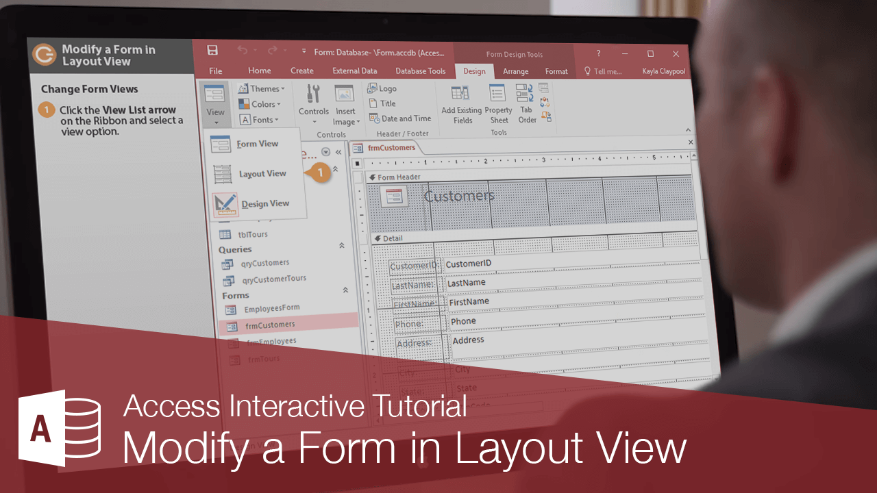 Modify a Form in Layout View