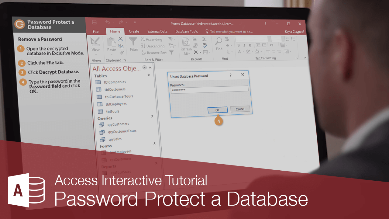 Password Protect a Database