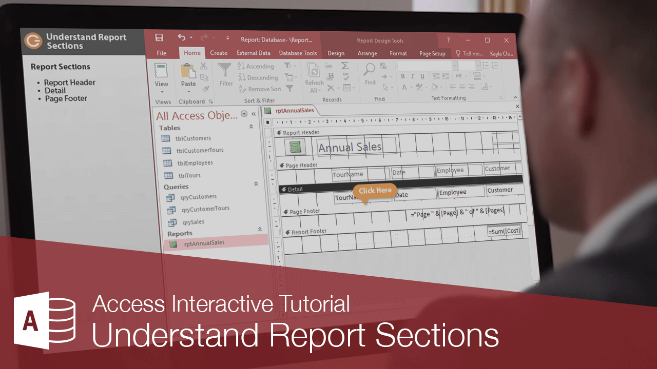 Understand Report Sections