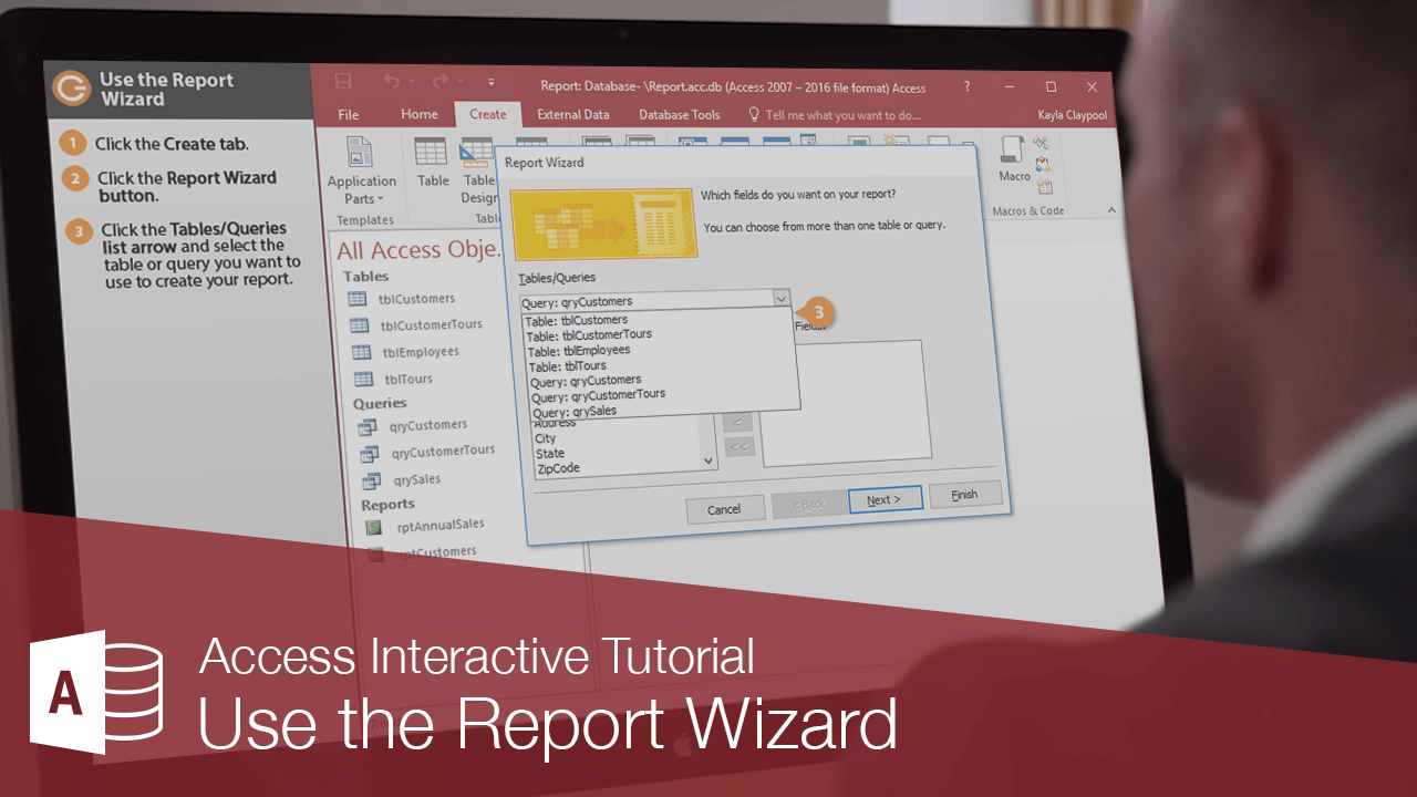 Use the Report Wizard
