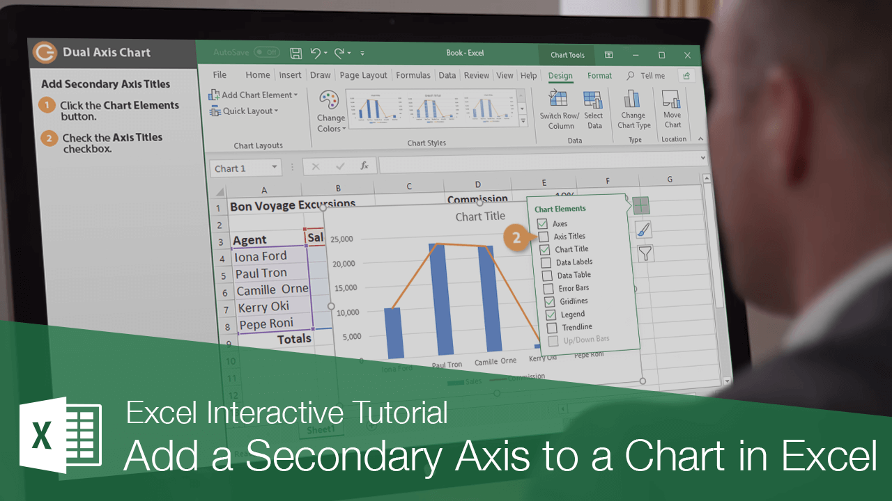 Add a Secondary Axis to a Chart in Excel