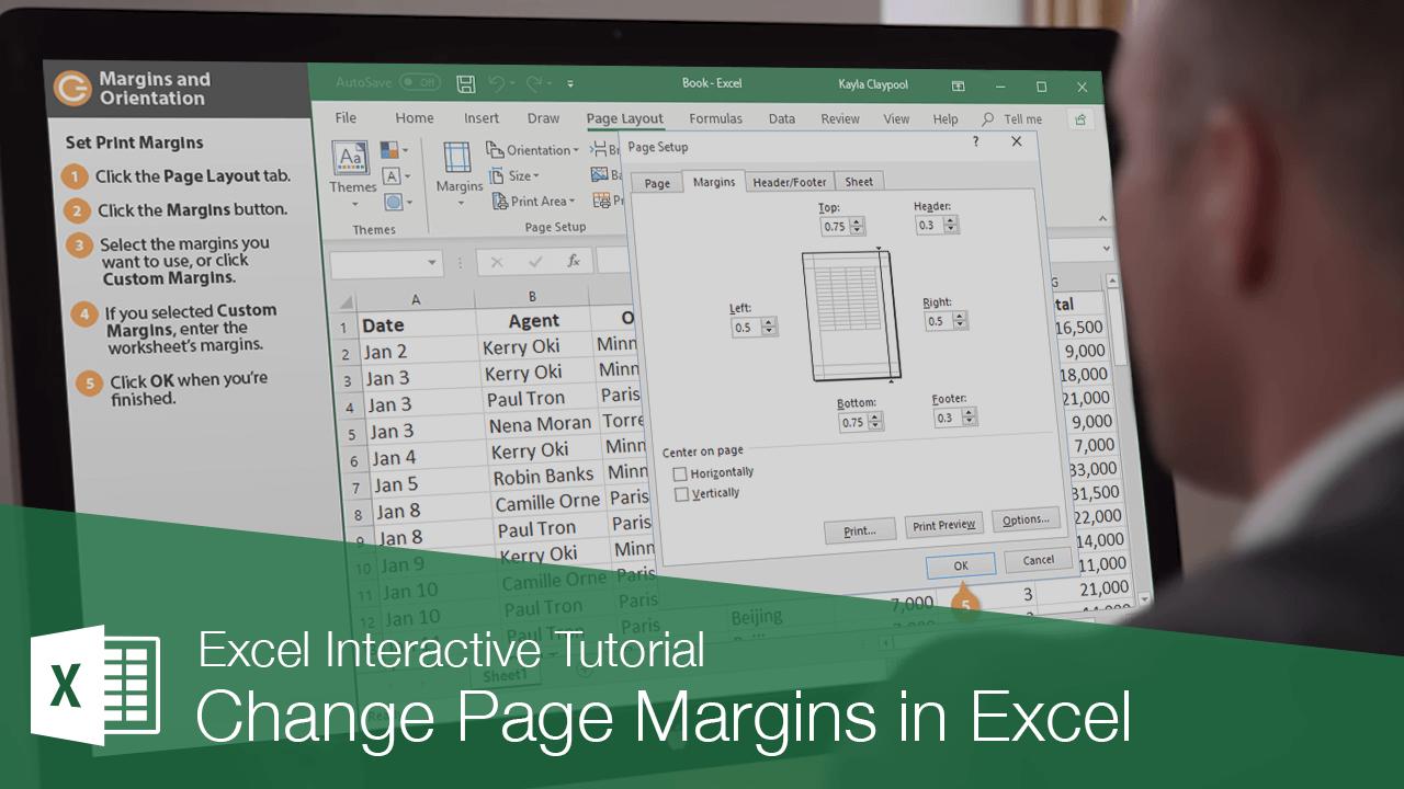 Change Page Margins in Excel
