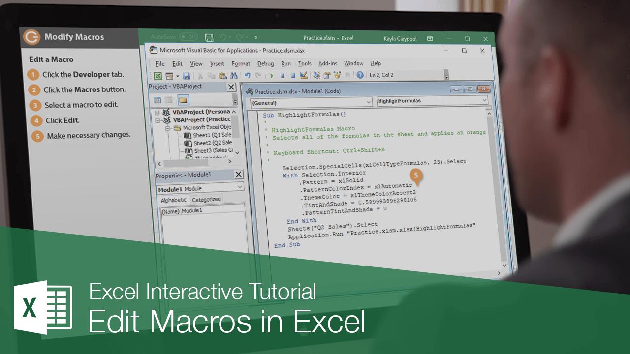 Edit Macros in Excel