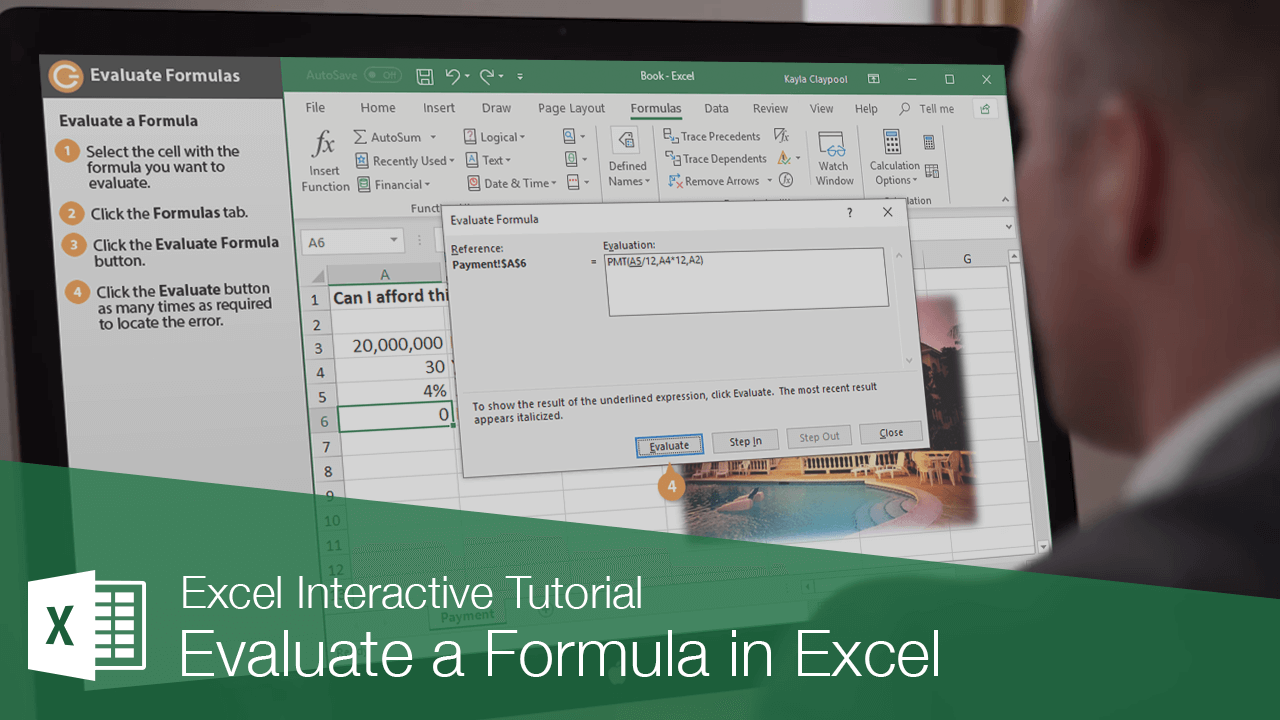 Evaluate a Formula in Excel