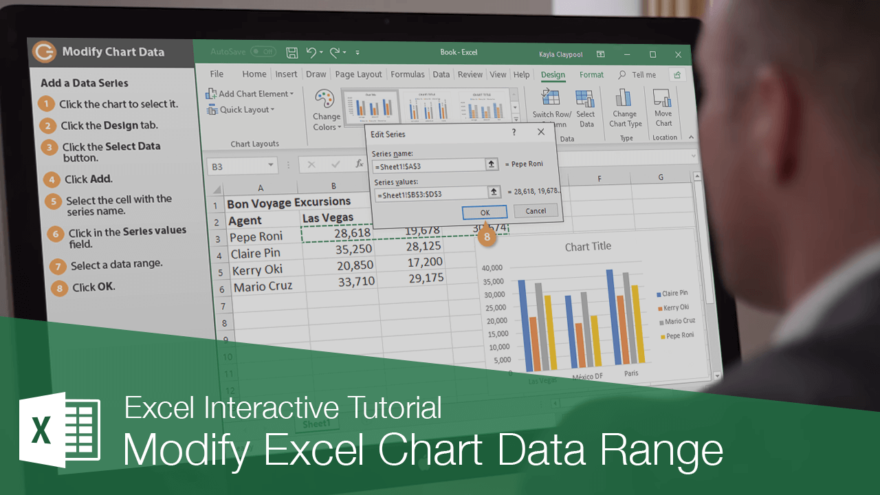 Modify Excel Chart Data Range