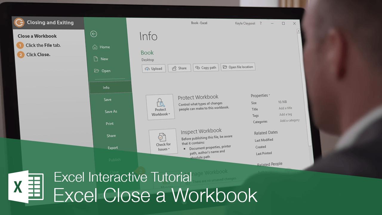 Excel Close a Workbook