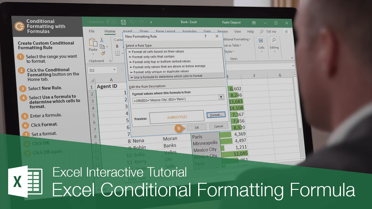 Excel Conditional Formatting Formula