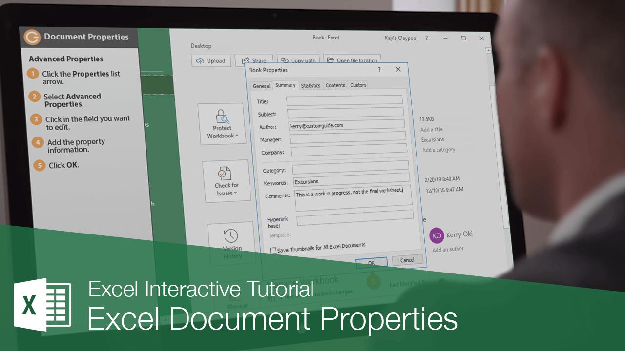 Excel Document Properties