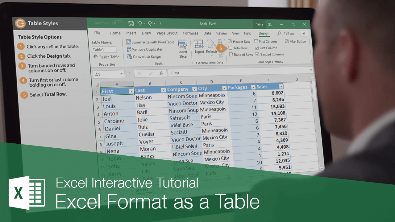 Excel Format as a Table