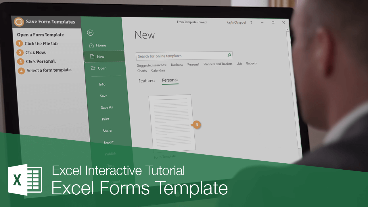 Excel Forms Template from www.customguide.com