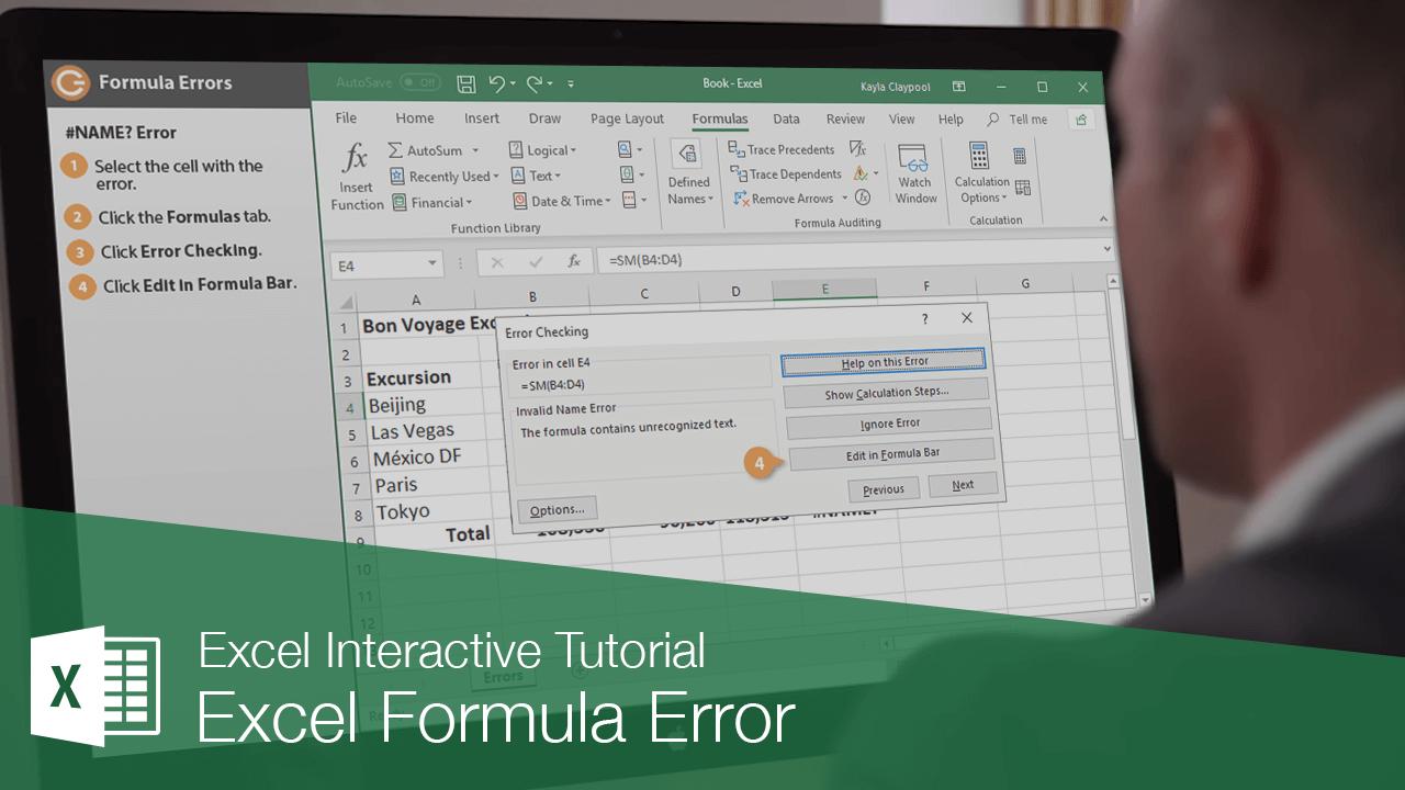 Excel Formula Error