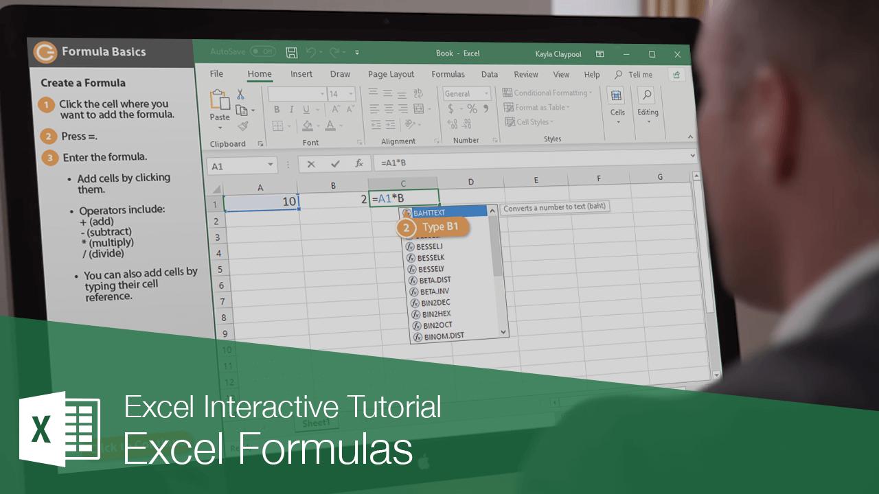 Excel Formulas   CustomGuide