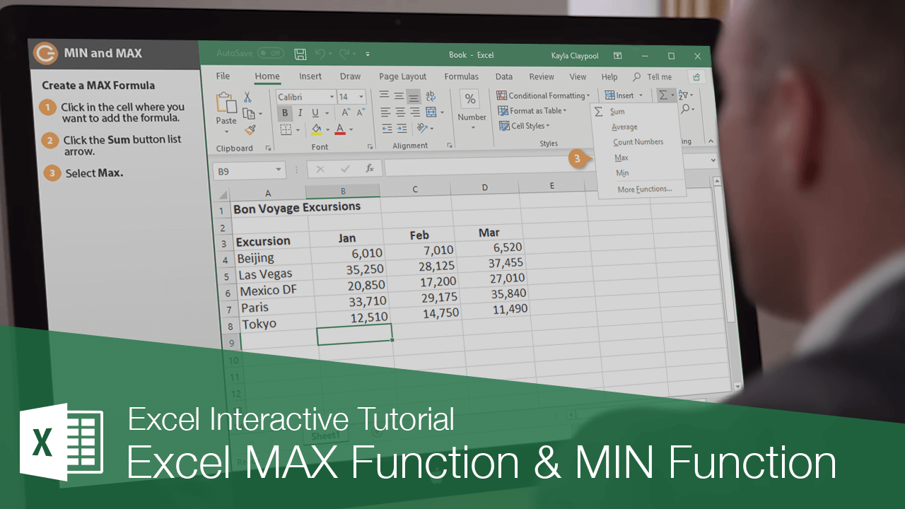 Excel MAX Function & MIN Function