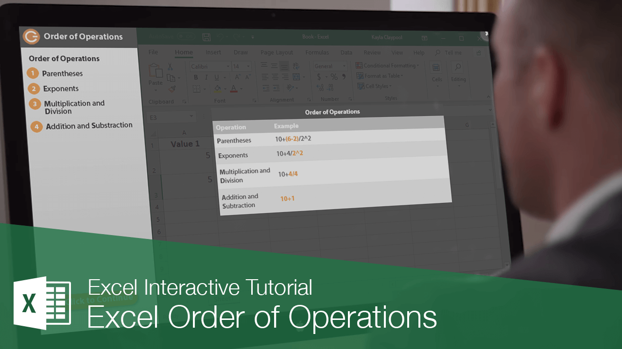 Excel Order of Operations   CustomGuide