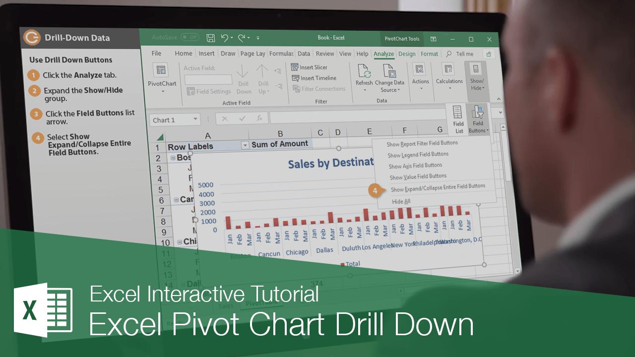 Excel Pivot Chart Drill Down