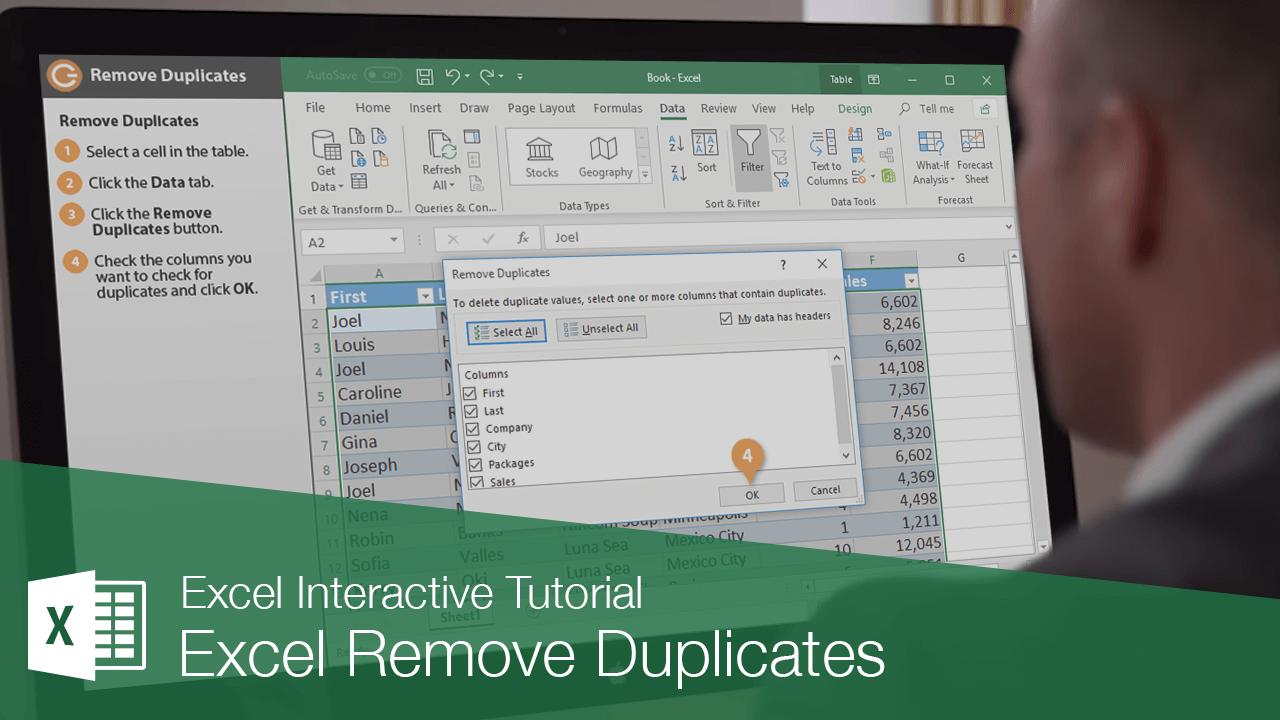 Excel Remove Duplicates