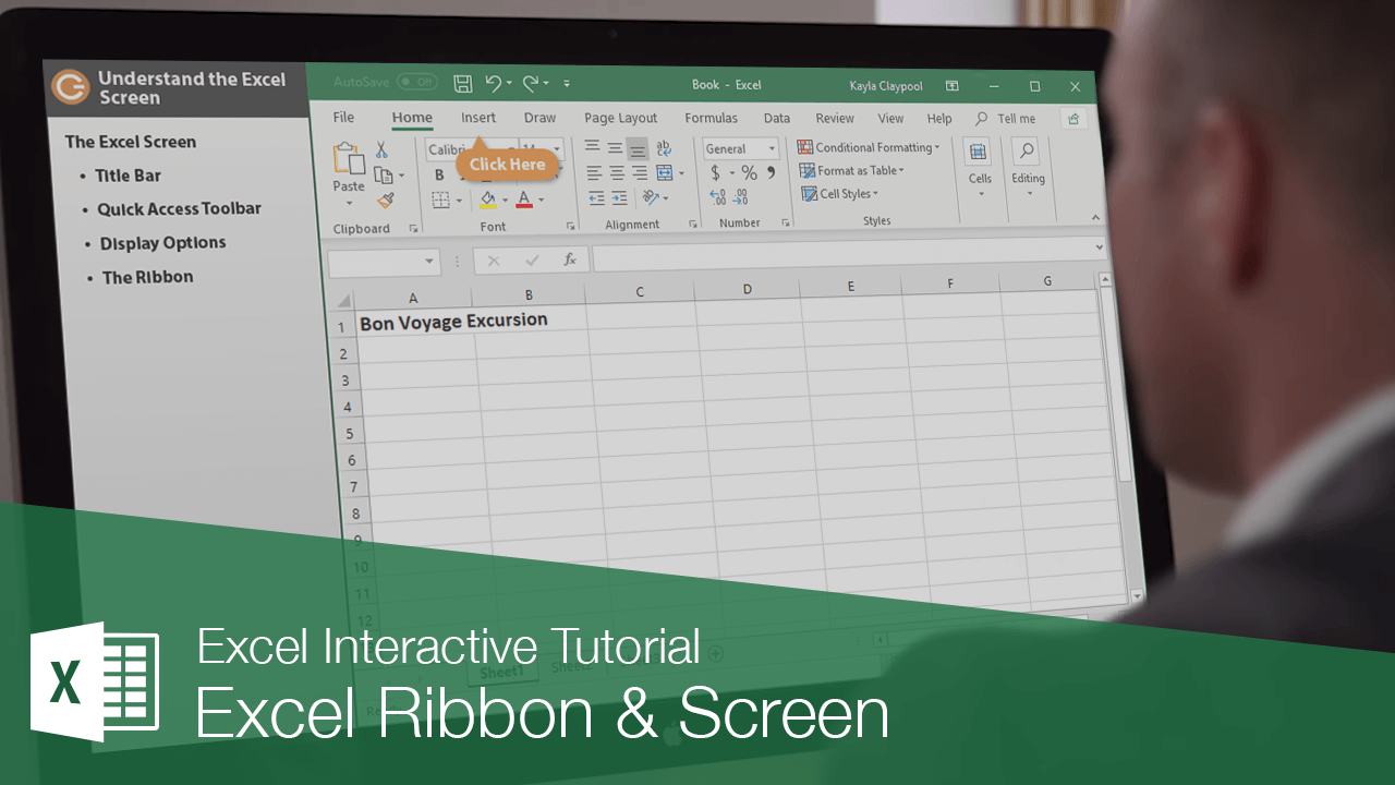 Excel Ribbon & Screen