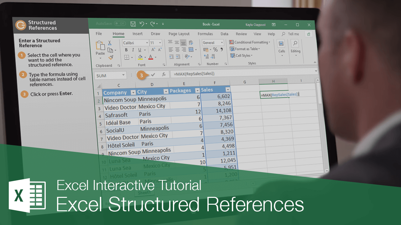 Excel Structured References