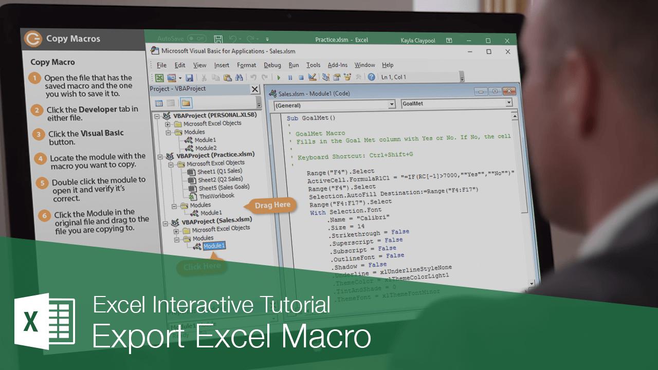 Export Excel Macro