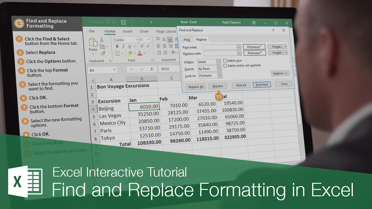 Find and Replace Formatting in Excel