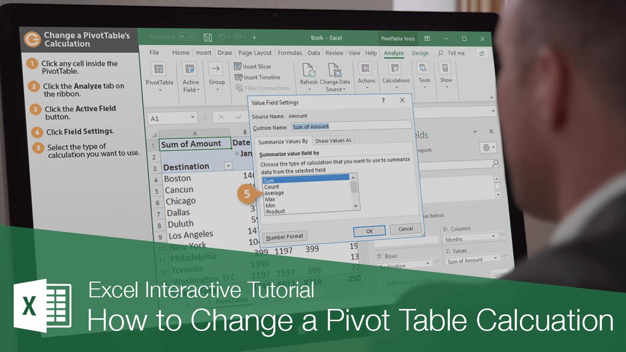 How to Change a Pivot Table Calcuation