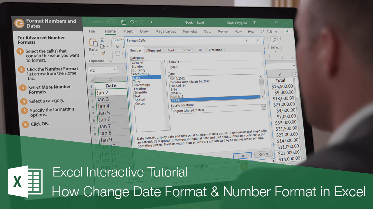 How Change Date Format & Number Format in Excel