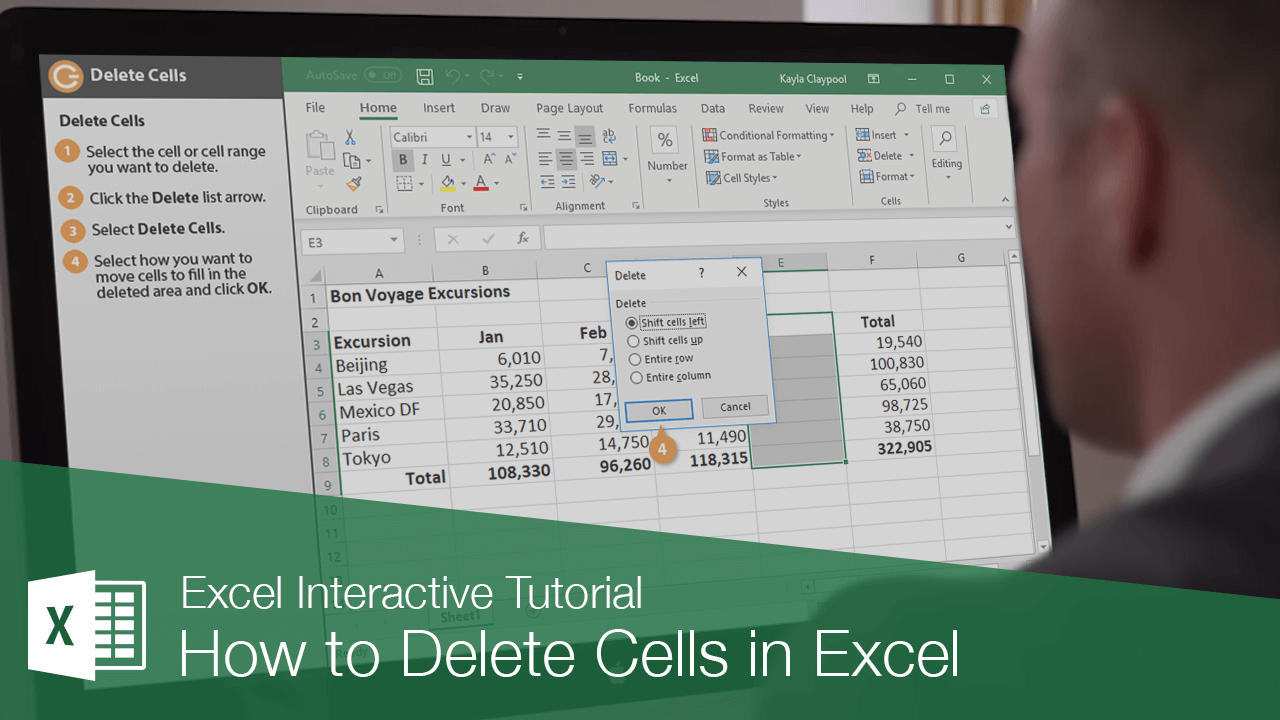 How to Delete Cells in Excel