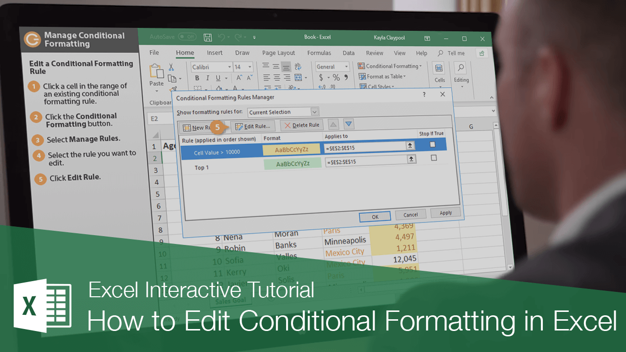 How to Edit Conditional Formatting in Excel