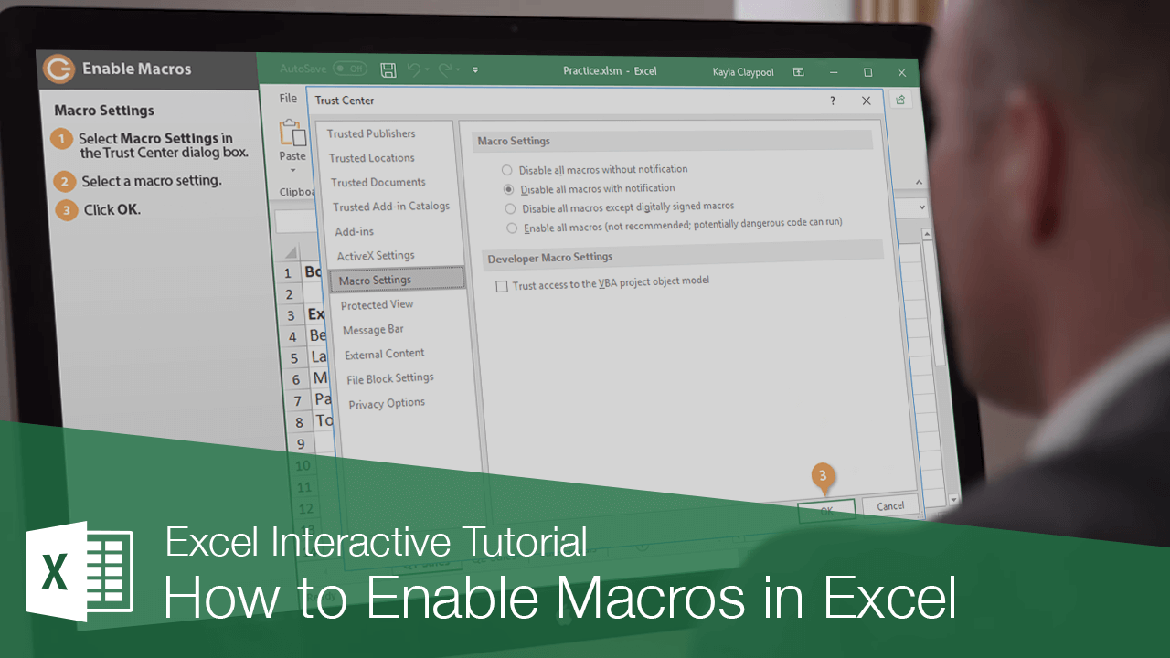 How to Enable Macros in Excel