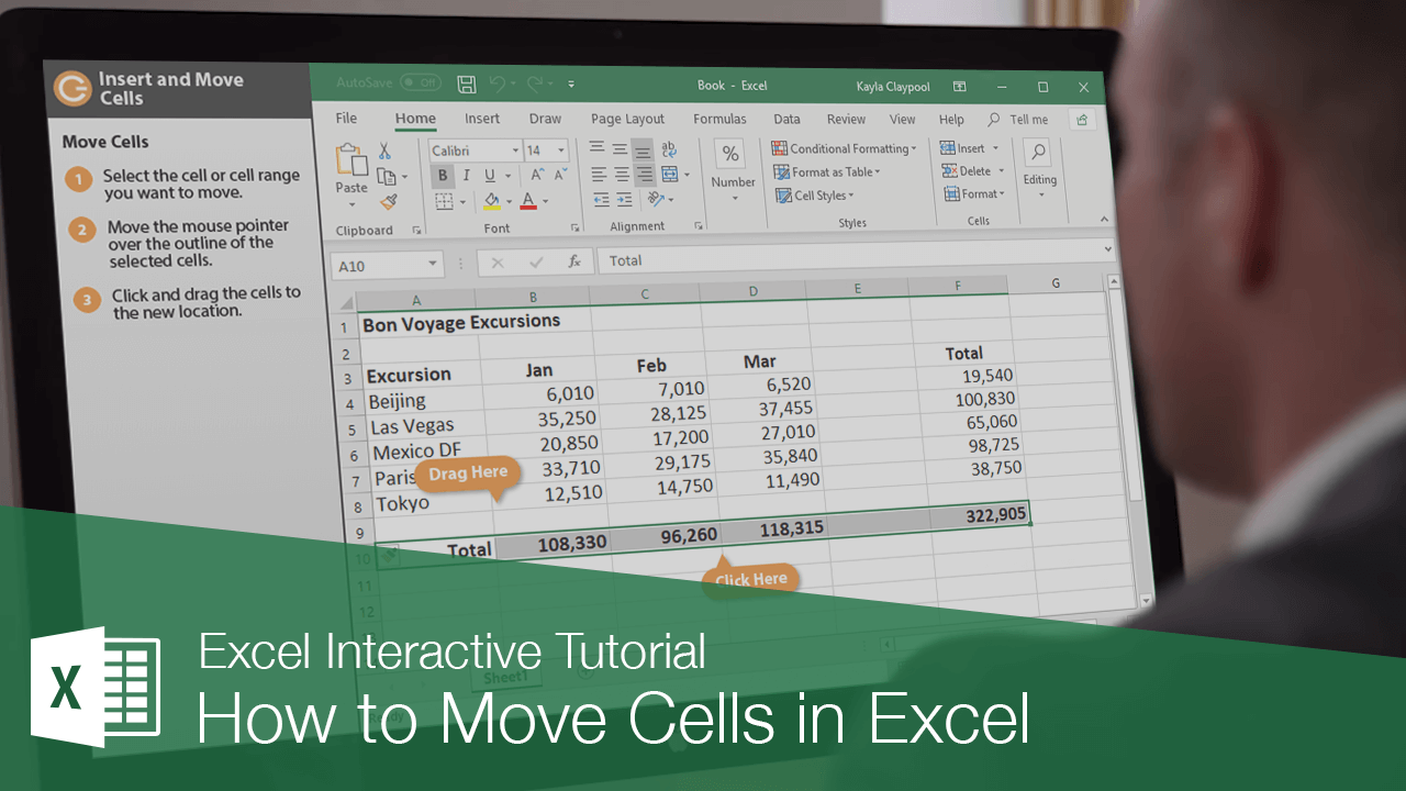 How to Move Cells in Excel