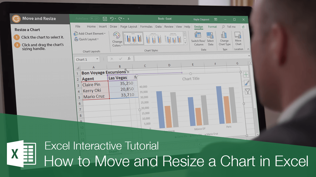 How to Move and Resize a Chart in Excel