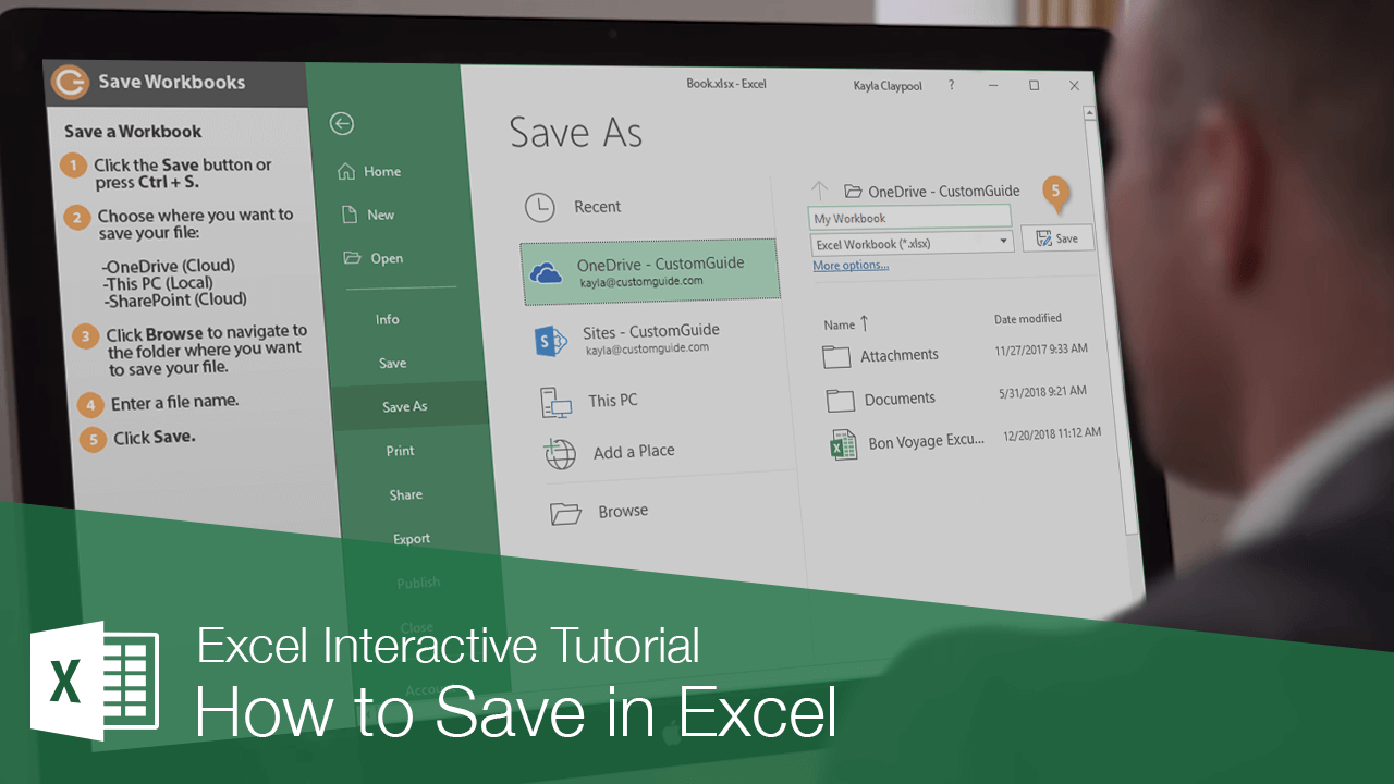 How to Save in Excel