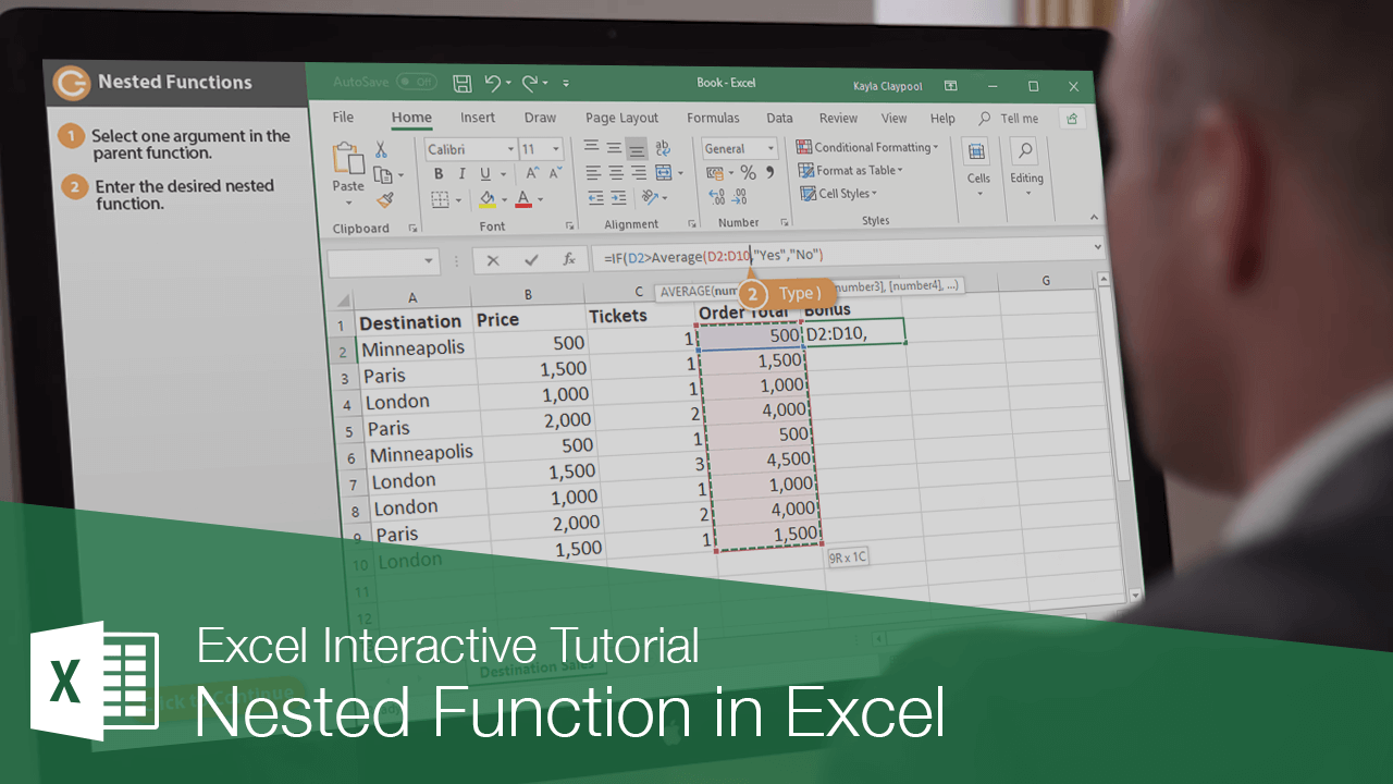 Nested Function in Excel