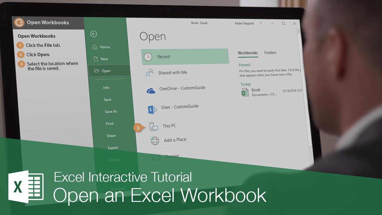 Open an Excel Workbook