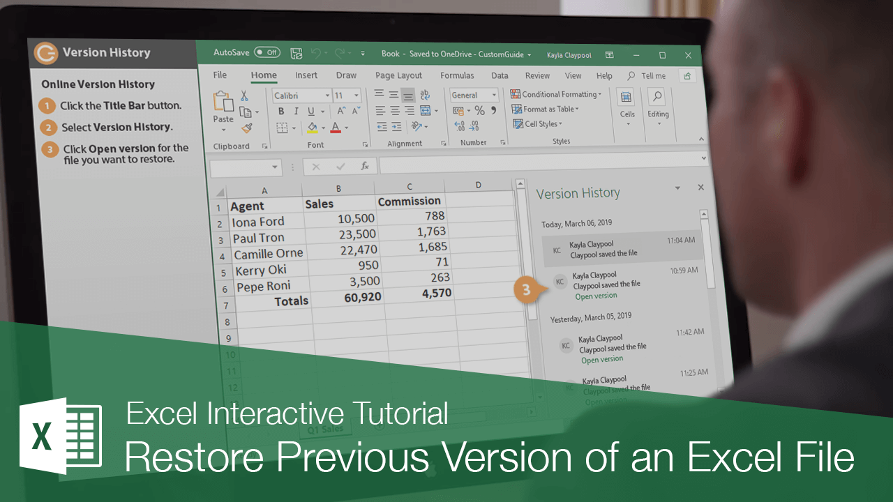 How to Restore a Previous Version of an Excel File