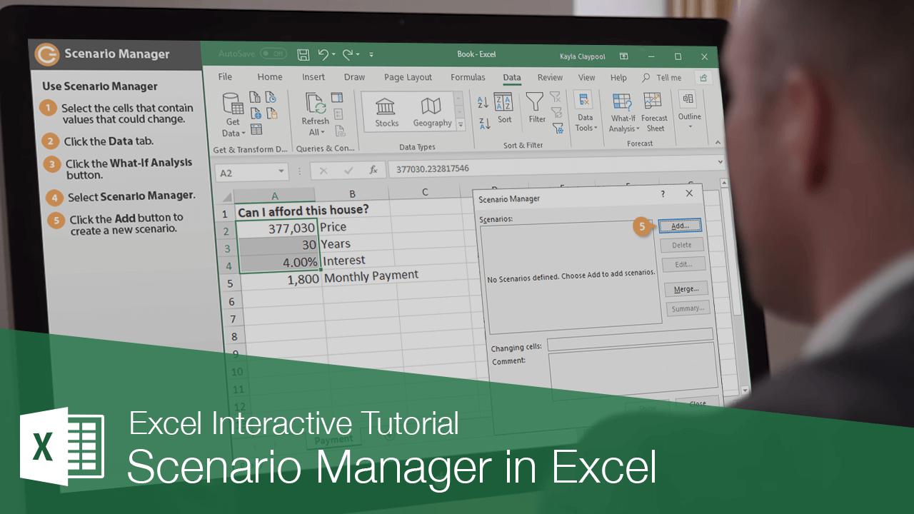 Scenario Manager in Excel