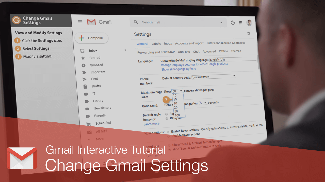 Change Gmail Settings
