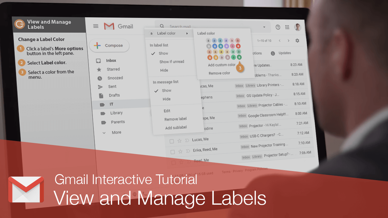 View and Manage Labels