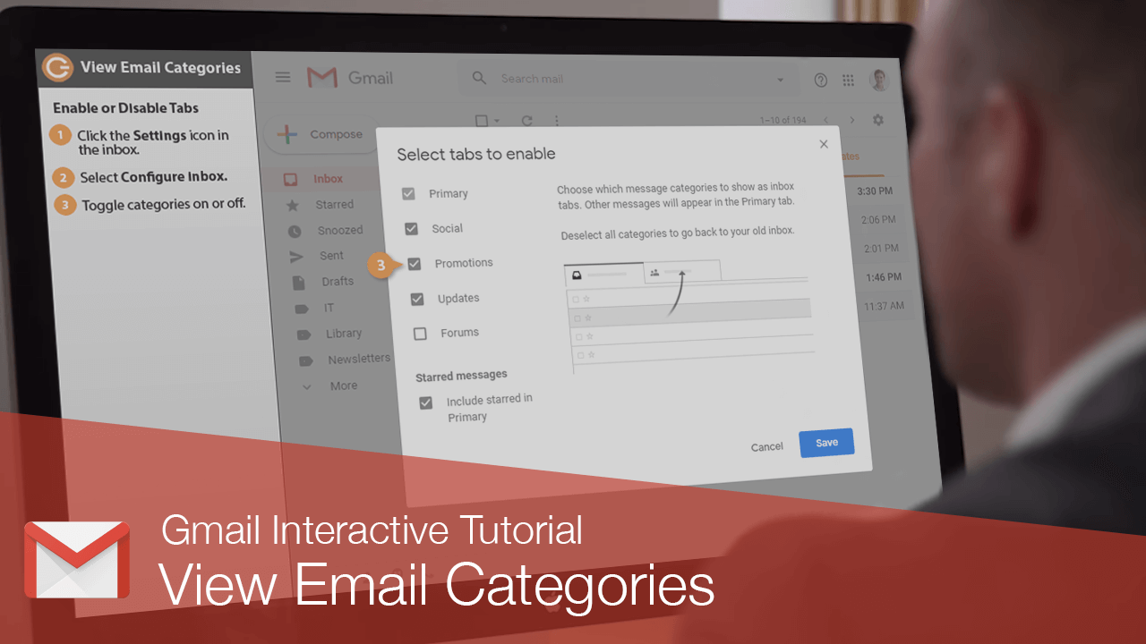 View Email Categories