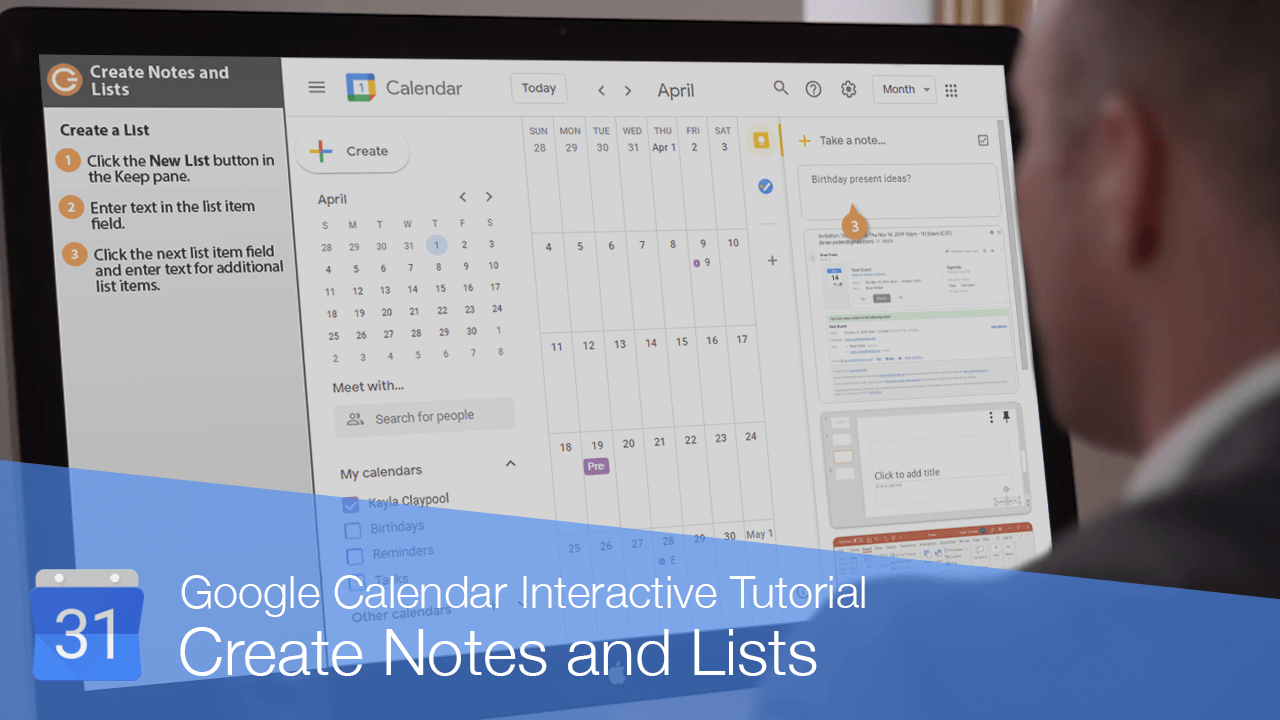 Create Notes and Lists