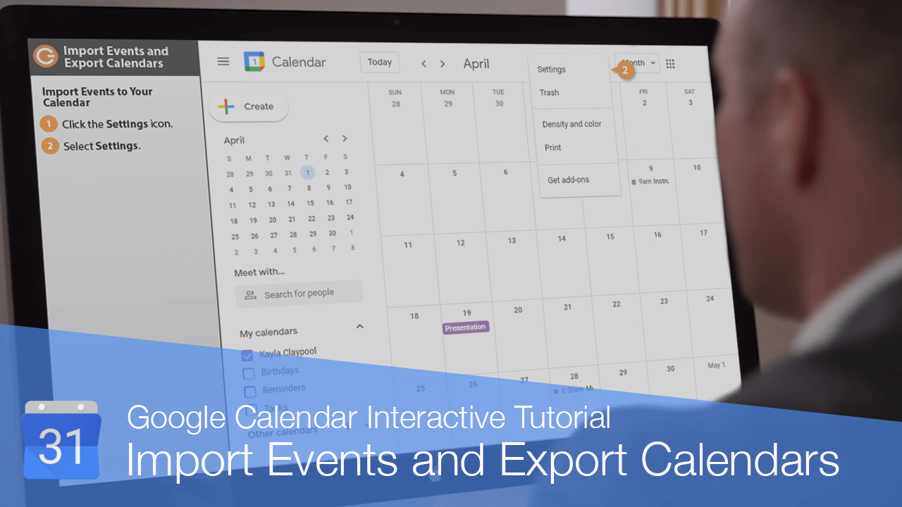 Import Events and Export Calendars