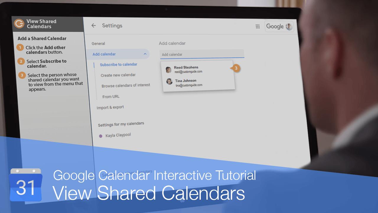 View Shared Calendars