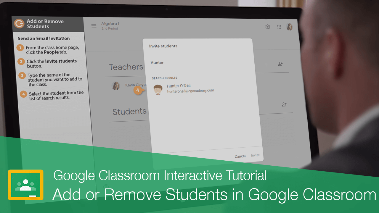 Add or Remove Students in Google Classroom