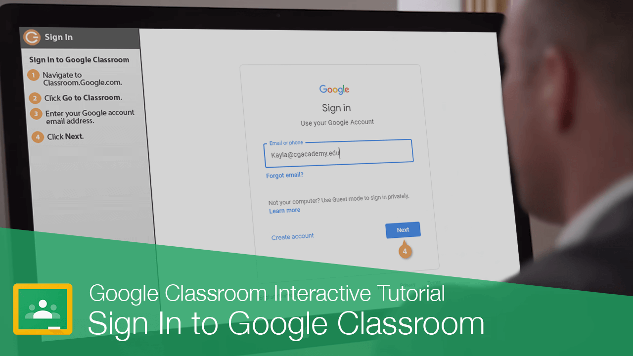 Sign In to Google Classroom