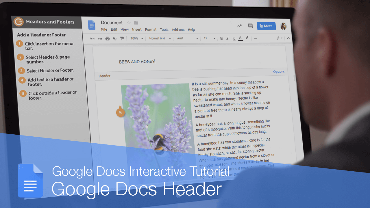 Google Docs Header