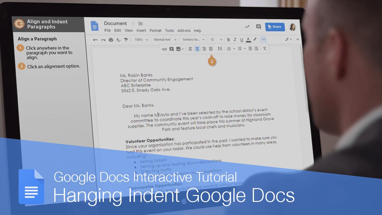 Hanging Indent Google Docs
