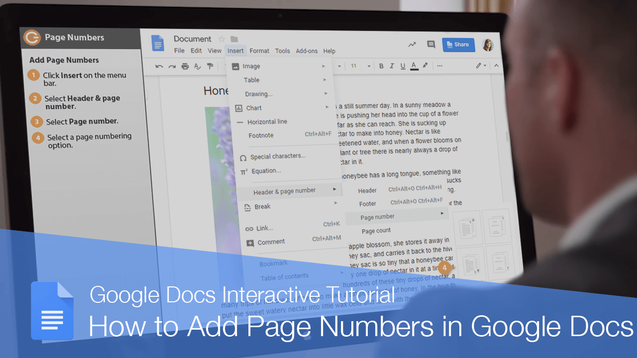 How to Add Page Numbers in Google Docs